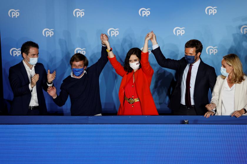 десницата печели регионалните избори мадрид
