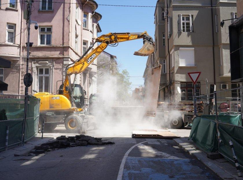 Започна цялостният ремонт на столичната улица
