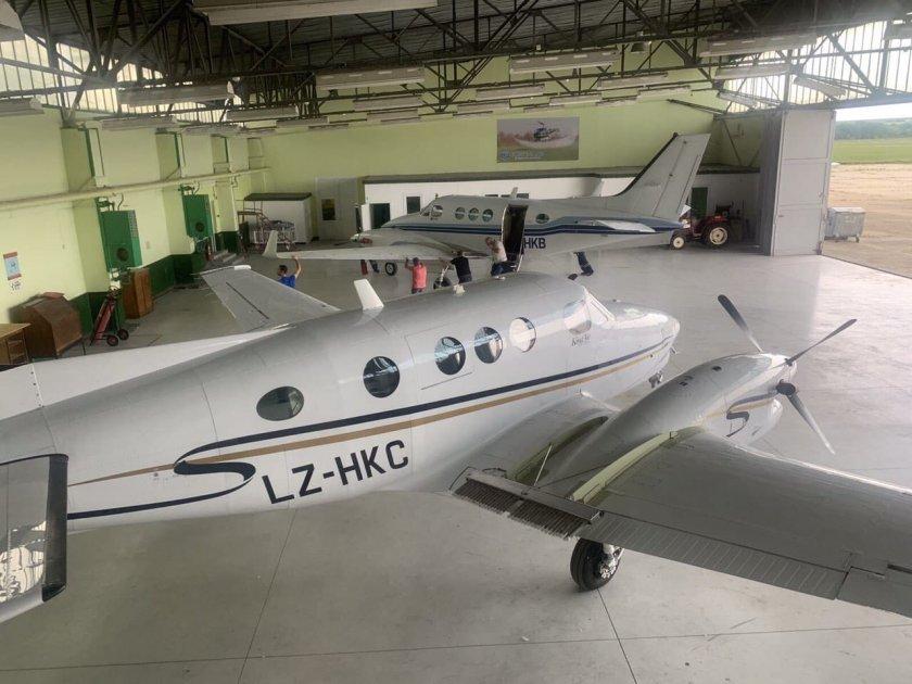 три самолета включват борбата градушките централна североизточна българия