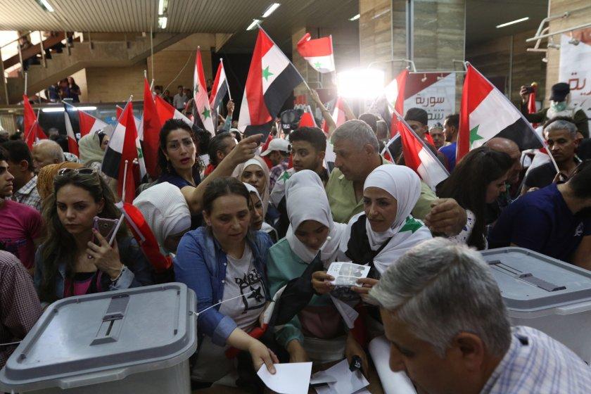 Президентски избори и протести в Сирия