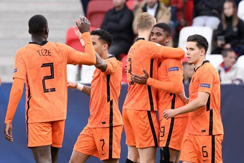 Нидерландия обърна Франция и е на 1/2-финал на ЕП по футбол за младежи