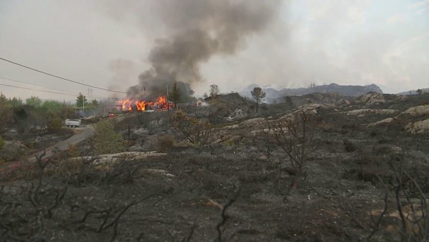 Горски пожари в Норвегия, евакуираха близо 500 души