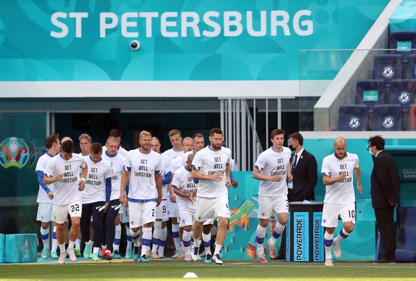 играчите финландия отново подкрепиха ериксен снимки