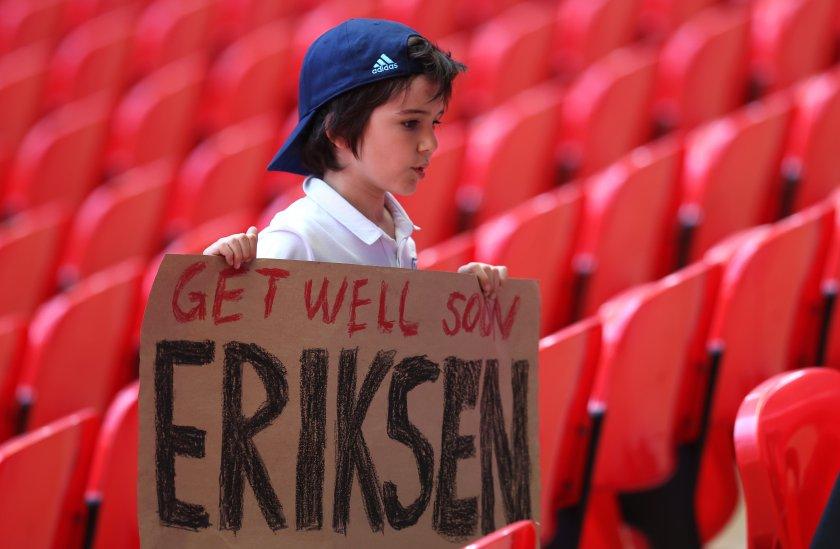 ериксен изпратил оптимистично послание съотборниците