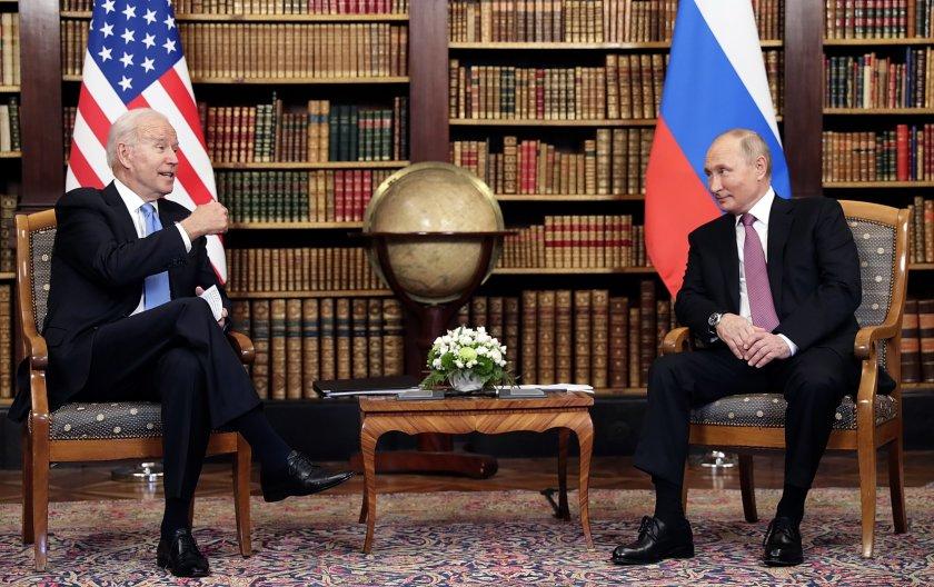 Президентите на САЩ и Русия Джо Байдън и Владимир Путин