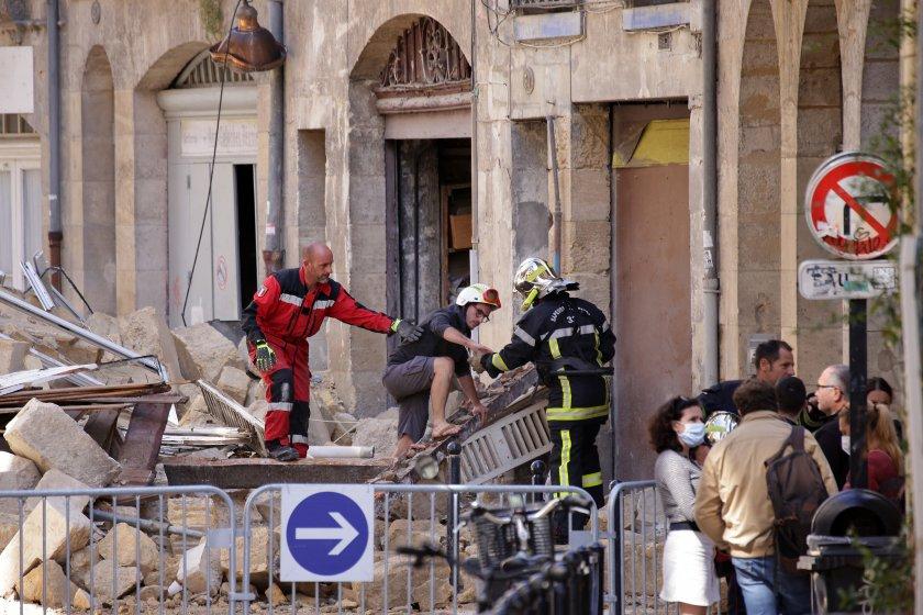 трима ранени срутването две сгради бордо