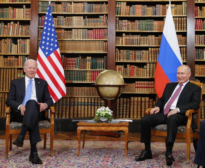Президентите на САЩ Джо Байдън и Русия Владимир Путин се