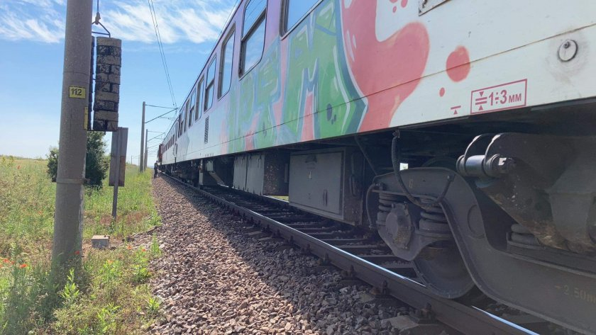 авария спря влака бургас софия пътниците блокирани