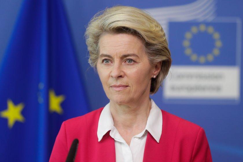 Председателят на Европейската комисия Урсула фон дер Лайен заминава днес