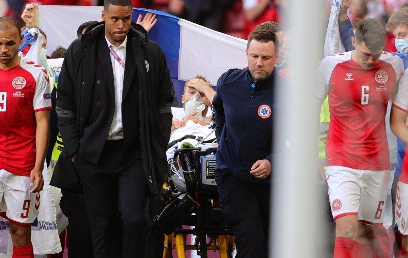 Загубилият вчера съзнание датски футболист Кристиан Ериксен е в съзнание