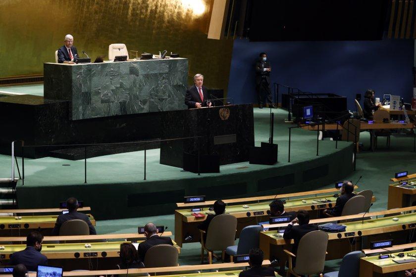 Общото събрание на ООН назначи Антониу Гутериш за генерален секретар