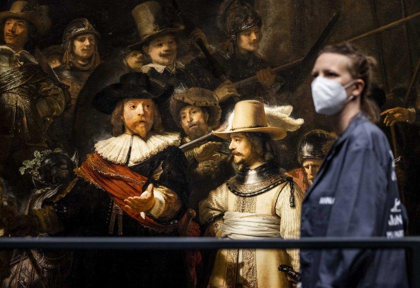 Шедьовър на Рембранд беше изложен в Амстердам след реконструкция.Става дума