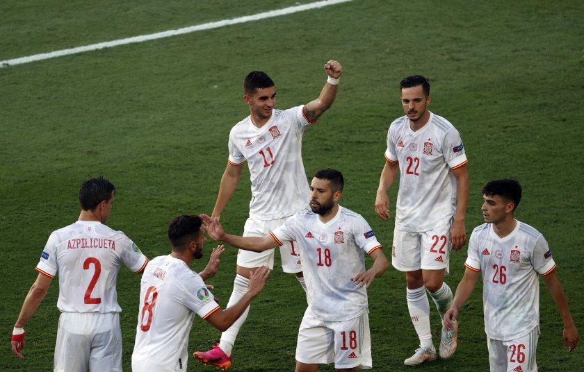 испания разгроми словакия играе хърватия финалите