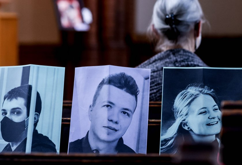 протасевич приятелката изведени изолатора домашен арест