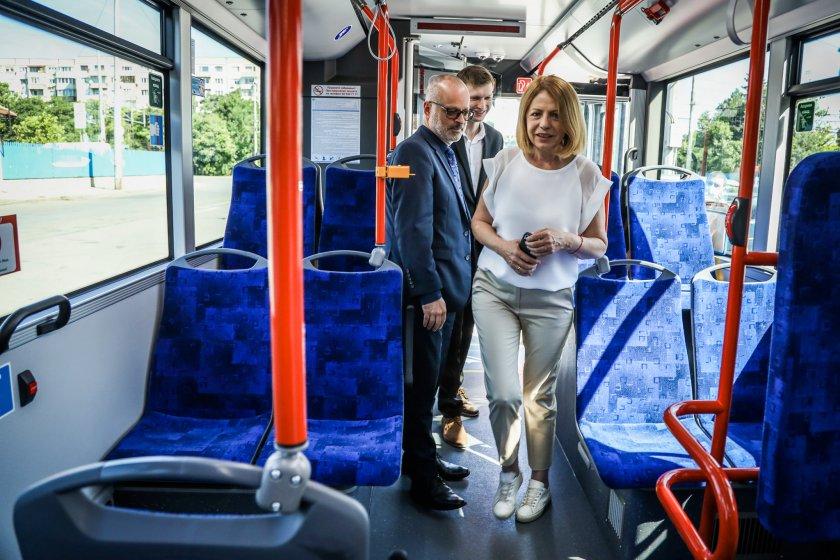 пуснаха движение последния новозакупените тролейбуси софия
