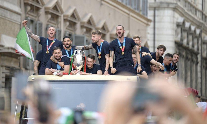италия петтима футболисти идеалния отбор евро 2020