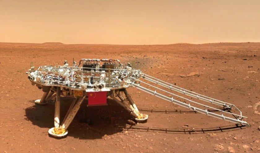 Китай разпространи кадри от своя марсоход на Червената планета