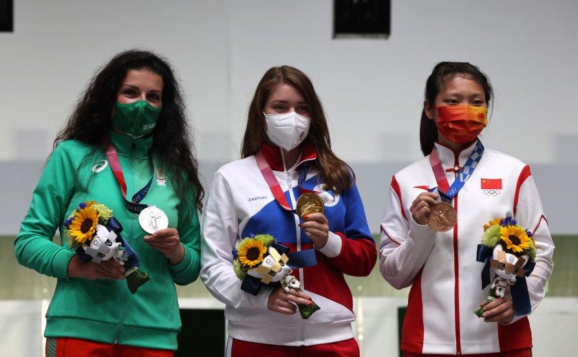 стефка костадинова поздрави сребърната медалистка токио