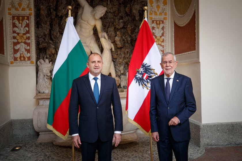 Румен Радев разговаря с австрийския президент на среща в Залцбург