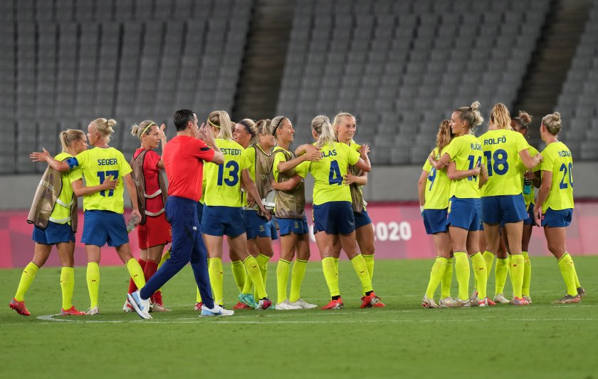 звездите футболния тим сащ поражение швеция