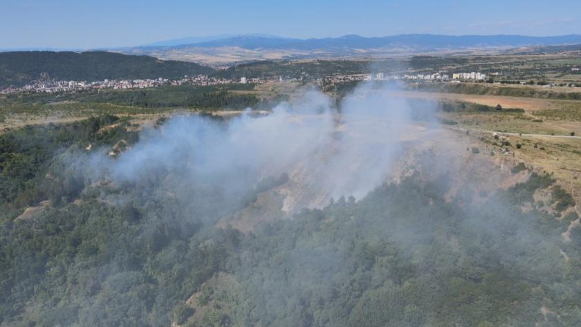 мосв замърсяване въздуха пожара сметището дупница