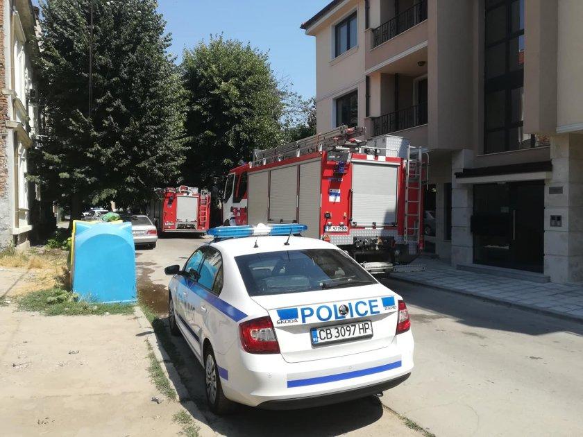 пожар горя изоставена къща центъра русе