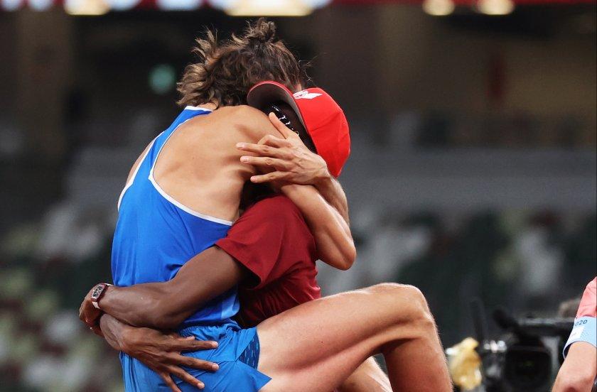 двама атлети поделиха златния медал високия скок