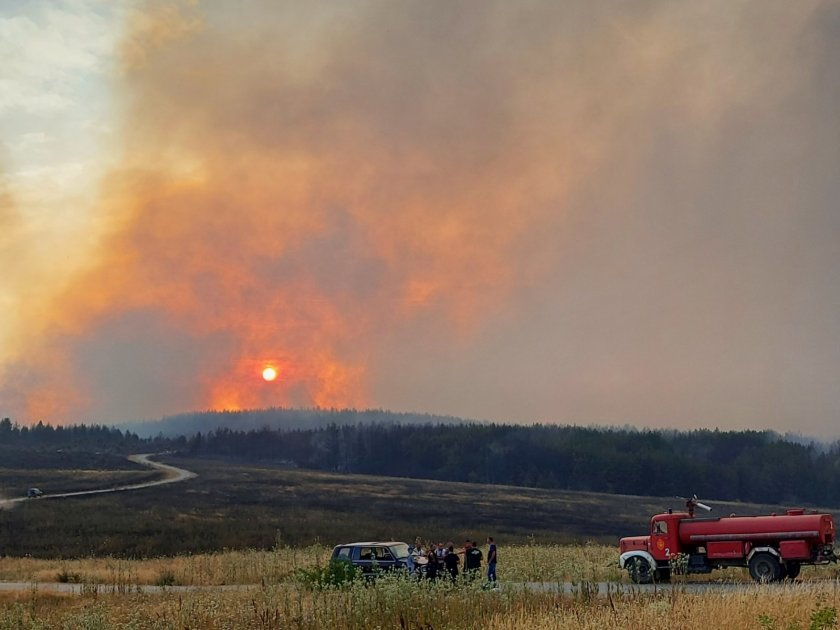 мирис изгоряло софия заради пожара република северна македония