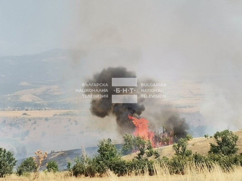 голям пожар гори благоевград