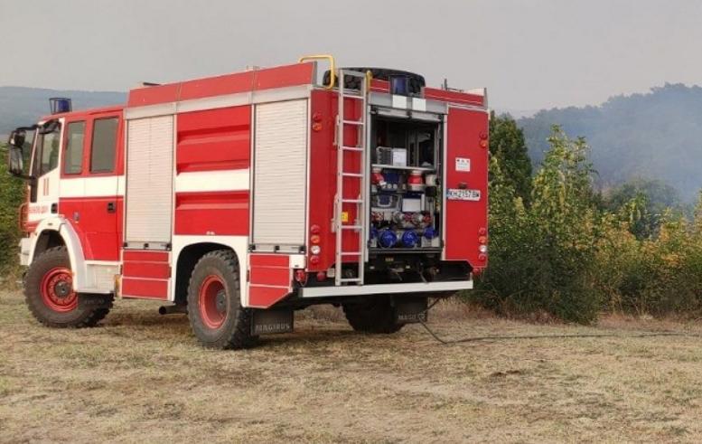 Голям пожар бушува в района Долно село, община Кюстендил. Огънят