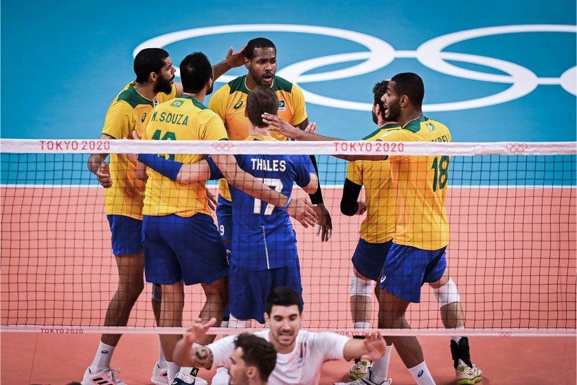 бразилия победи франция волейболен трилър