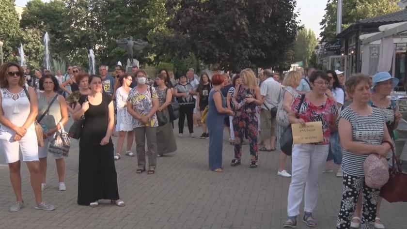 В Хасково протест срещу повишаване на цената на питейната вода.Поскъпването