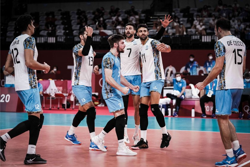 аржентина изхвърли италия волейболния турнир токио
