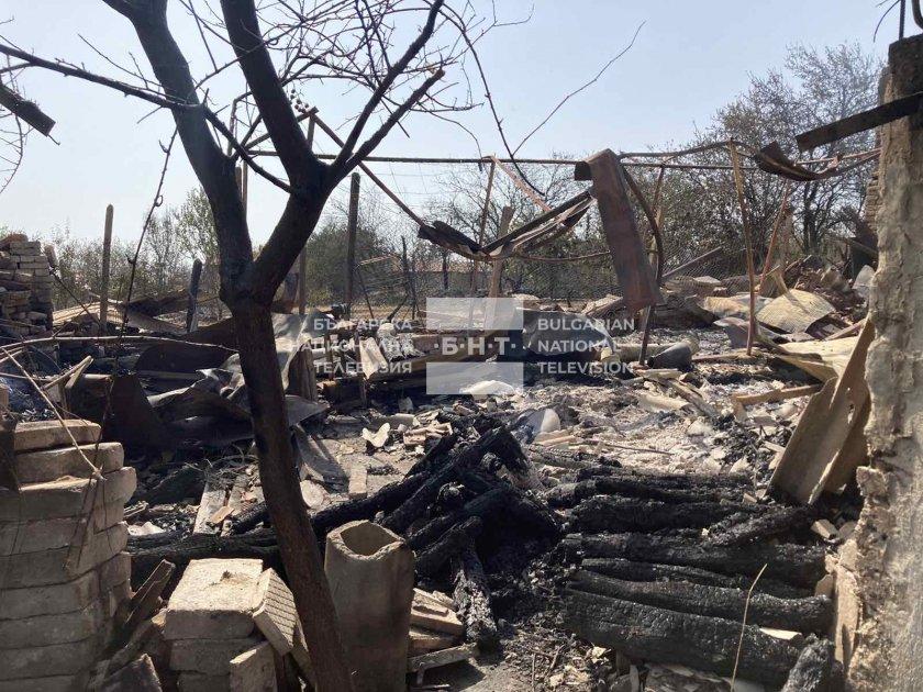 Голям пожар вилня в хисарското село Старосел от вчера следобед.