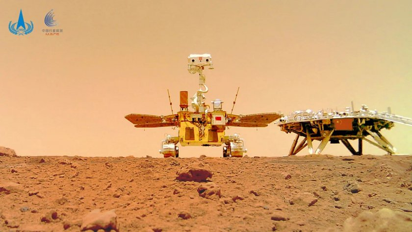Китайският марсоход измина 900 метра и събра 10 гигабайта информация