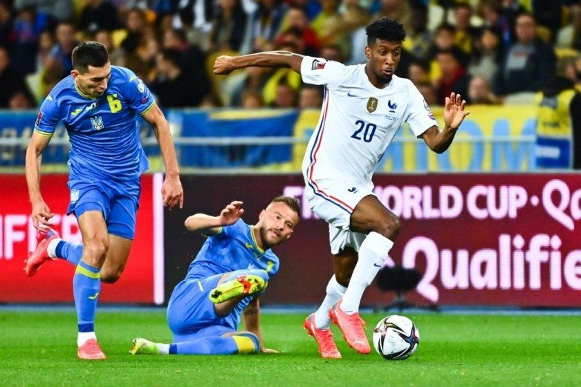 Франция отново не спечели след 1:1 в Киев
