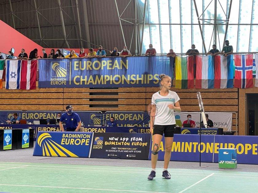 калояна налбантова европейска титла бадминтона девойките