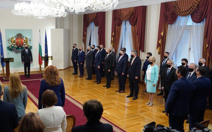 Новото служебно правителство встъпи в длъжност (Снимки)