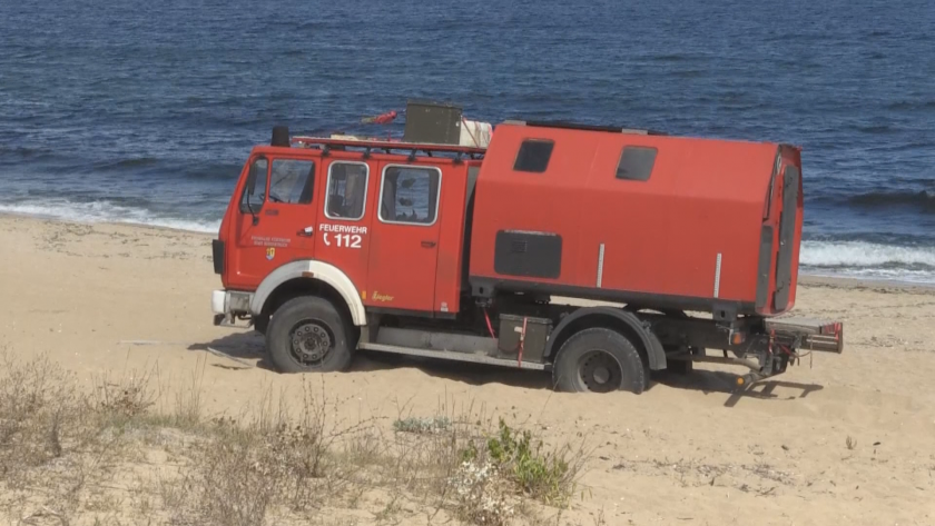 пожарна кемпер нагази шофьорския плаж созопол