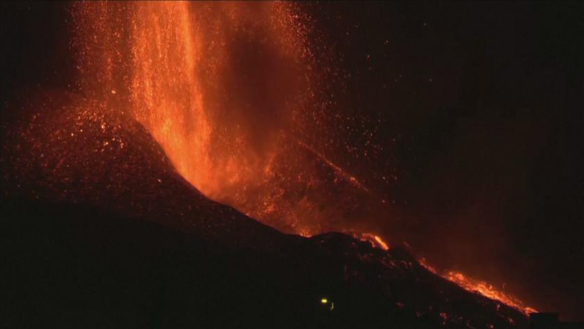 Срути се част от кратера на вулкана на остров Ла Палма