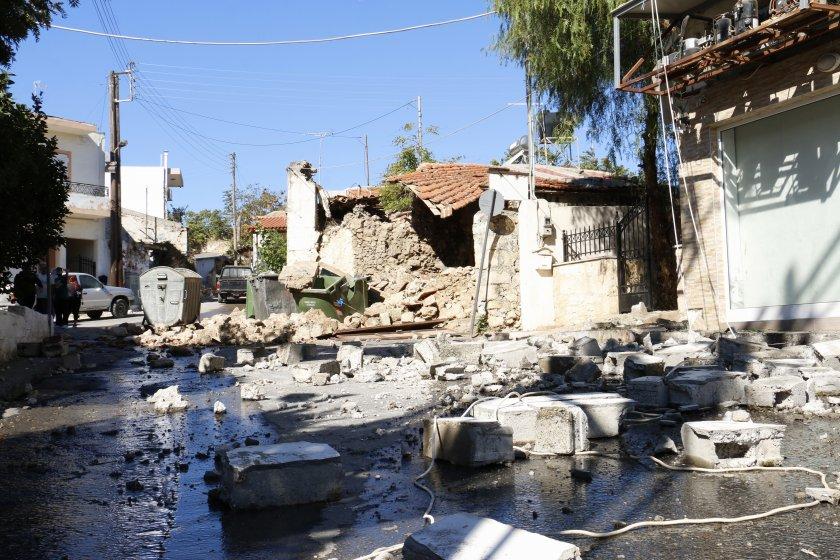 мощен трус разтърси гръцкия остров крит