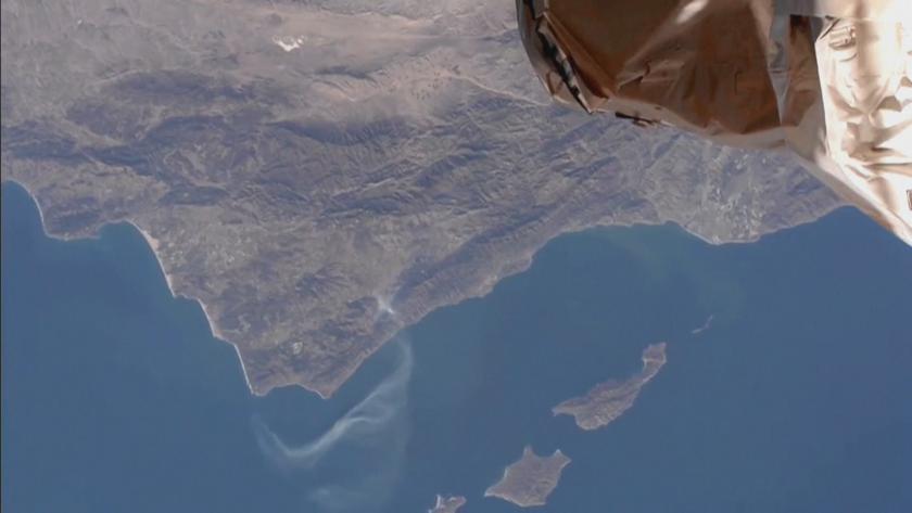 Пожарите в Калифорния се виждат от Международната космическа станция