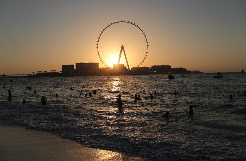 Най-голямото и най-високото Виенско колело се намира в Дубай.Височината му