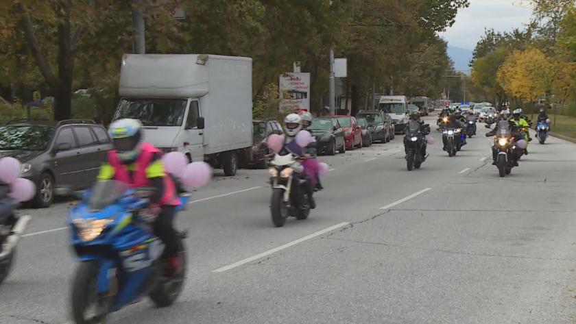 Шествие на жени-мотористи се проведе днес в Пловдив под мотото