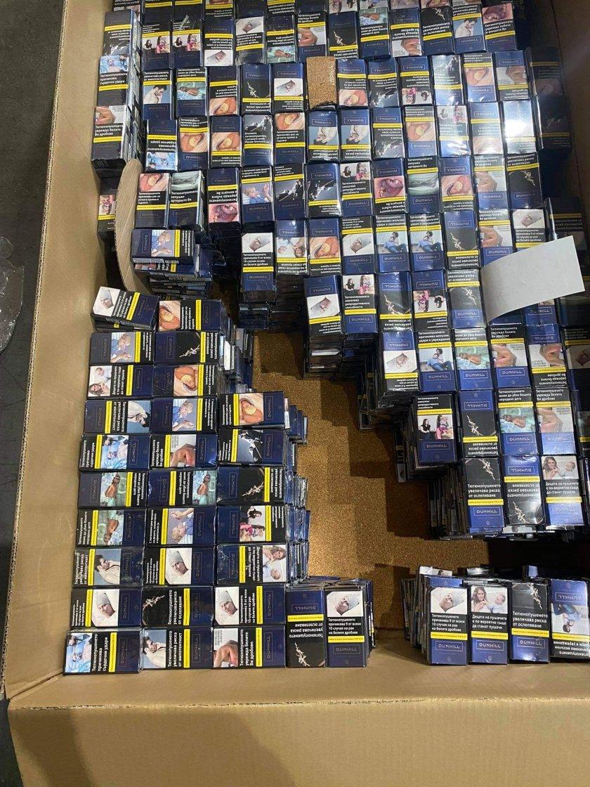 Митнически служители задържаха 69 200 къса (3460 кутии) цигари, укрити