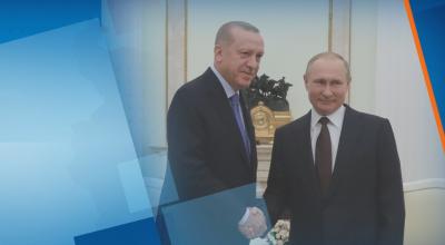 Путин и Ердоган в среща на четири очи за кризата в Сирия