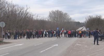 Блокада на пътя Плевен-Русе заради винетките