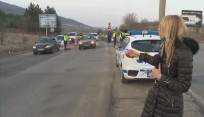 12 полицаи проверяват на входа за София от Владая