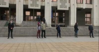 Мълчаливо бдение в памет на Милен Цветков в Бургас