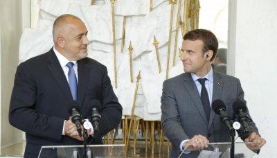 Бойко Борисов разговаря с президента на Френската република Еманюел Макрон